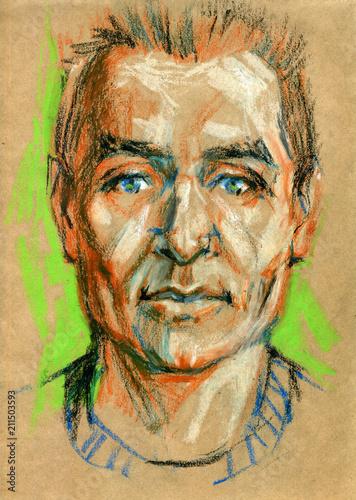 portret-mezczyzna-pastelowa-ilustracja-na-rzemioslo-papierze