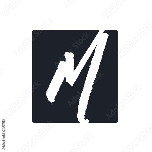 Fotografia  Creative m letter vector logo design
