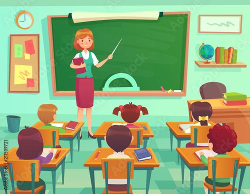 Cuadros en Lienzo Classroom with kids