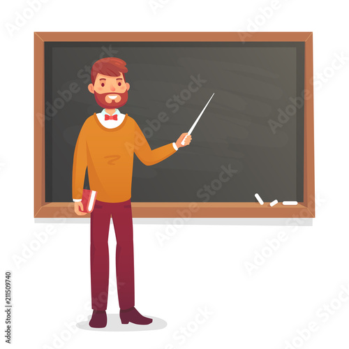 Fotografia Chalkboard and professor