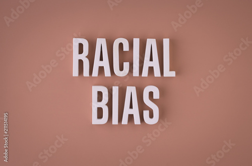 Racial Bias sign lettering Canvas Print