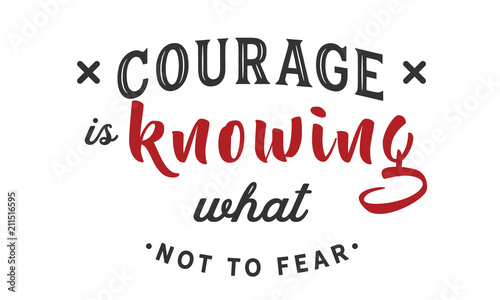 Photo sur Toile Positive Typography Courage is knowing what not to fear.