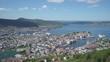 Aerial panoramic view of Bergen, Norway