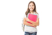 Young Hispanic Student Girl Ho...
