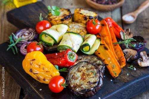 Foto op Canvas Grill / Barbecue Gemischtes Gemüse vom Grill