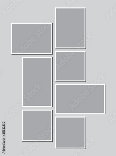 Templates collage frames for photo or illustration  Montage