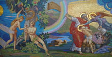 Religion. Mosaic. Orthodox Church In Kirowograd Ukraine