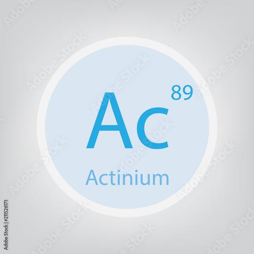 Actinium Ac chemical element icon- vector illustration Canvas Print