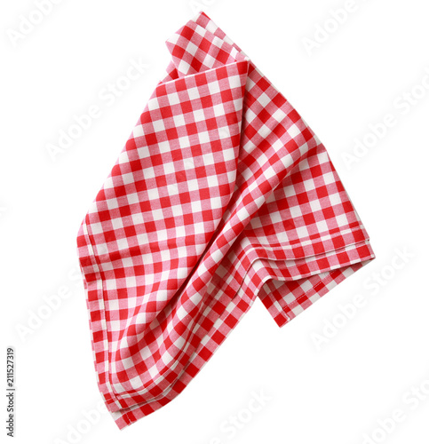 Fototapeta  Red checkered clothes isolated.