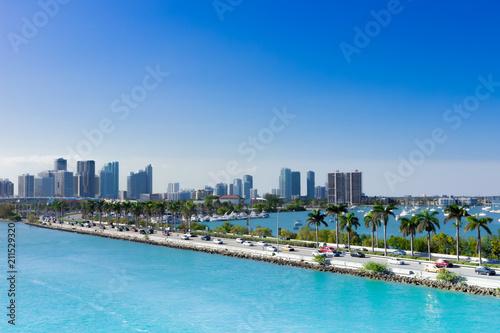 Papiers peints Lieux connus d Amérique Miami, MacArthur Causeway, USA, Florida