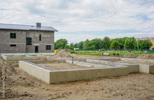 Fotografía  Concrete foundation of a new house