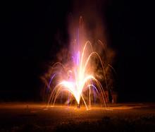 A Fountain Firework.