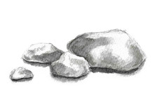 Stone, Watercolor, Stones, Sketch, Rock, Mineral, 3d, Abstract, Background, Base, Boulder, Cliff, Clipping, Cobblestone, Design, Drawing, Element, Geology, Granite, Gray, Hand, Hand Drawing, Hard, Hea