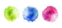 Illustration Of Watercolor Cir...
