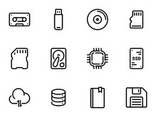 Set Of Black Vector Icons, Iso...