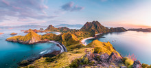 Top View Of Padar Island Before A Morning From Komodo Island (Komodo National Park), Labuan Bajo, Flores, Indonesia