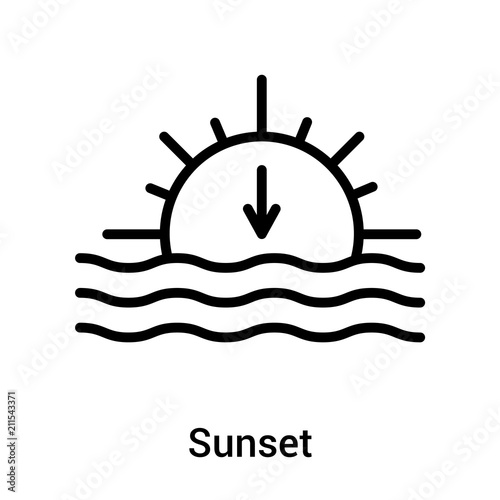 sunset icon vector sign and symbol isolated on white background sunset logo concept buy this stock vector and explore similar vectors at adobe stock adobe stock adobe stock