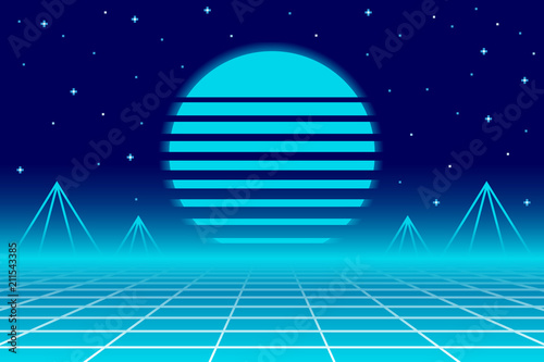 Recto Electro 80s Background  EPS10 Vector With Transparency