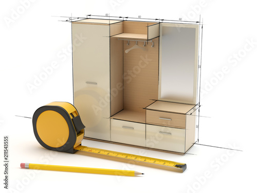 Fototapeta Project of the hallway furniture obraz