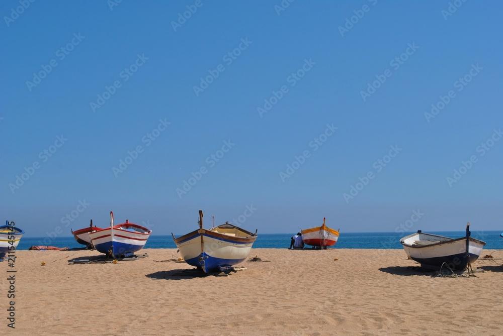 Fototapeta Łodzie na plaży