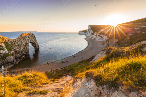 A beautiful photography spot on the south west coast of England, on the jurassic Poster