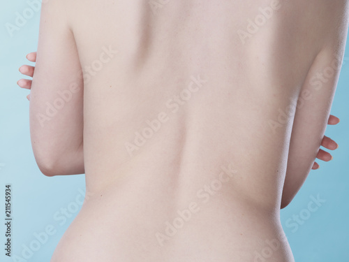 Staande foto Akt Young woman with naked back