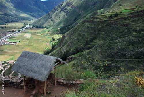 Tuinposter Khaki Urubamba Valley, Peru