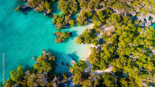 Poster Zanzibar aerial view of the pamunda island, Zanzibar