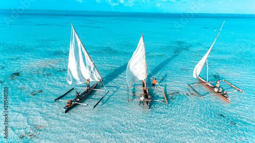 Papiers peints Zanzibar fishermen's dhow in stone town, Zanzibar