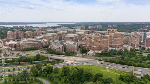 The skyline of Alexandria, VA, USA as seen from the George Washington Masonic Temple Canvas Print