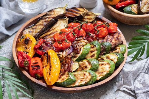 Poster Groenten Grilled vegetables platter