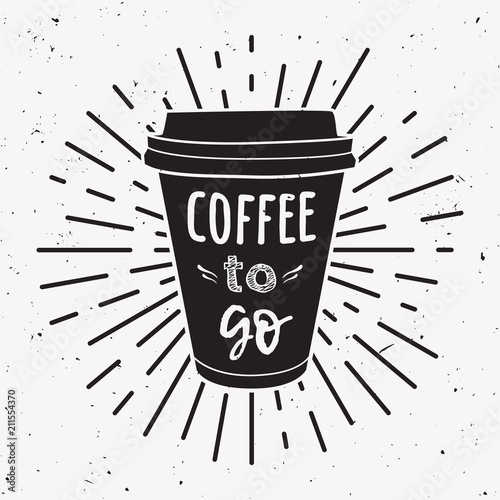 Coffee Take Illustration Cup Of Away Phrase Vector A With TFu1JlKc3