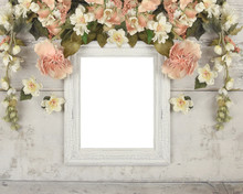 Flower Wreath Frame Mockup On ...