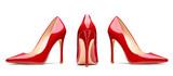 red high heel footwear fashion female style