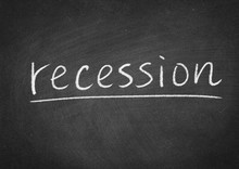 Recession Concept Word On A Bl...