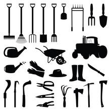 Shovel Hoe Axe Gardening Equipment Tools Set