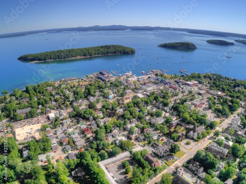 Fotografia, Obraz  Bar Harbor is a Tourist Town on the Maine Coast by Acadia National Park