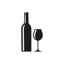 Wine Icon. Vector. Isolated.