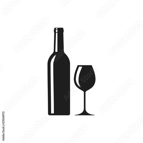 Fototapeta Wine icon. Vector. Isolated. obraz