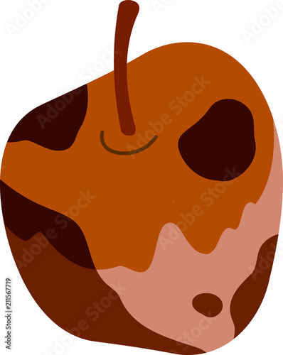 Rotten apple illustration Tablou Canvas