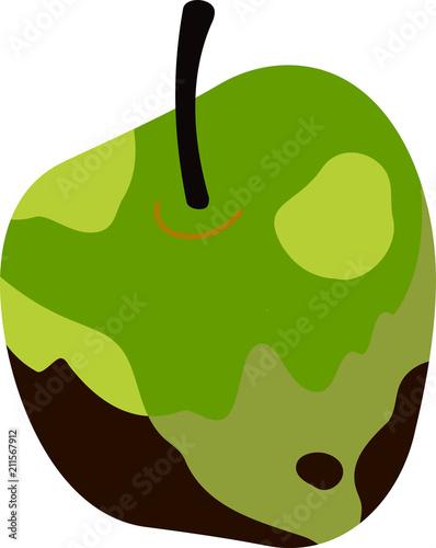 Fényképezés  Rotten apple illustration 2