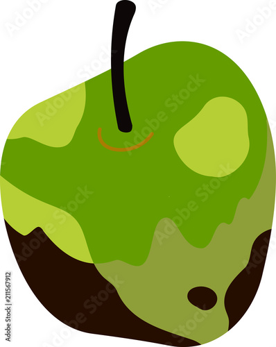 Fotografie, Tablou  Rotten apple illustration 2