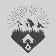 Outdoor Logo. Vector. Vintage ...