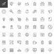 User Interface outline icons set. linear style symbols collection, line signs pack. vector graphics. Set includes icons as Paper plane, Diamond, Like hand, Checklist, House, Notification, Chat, Idea