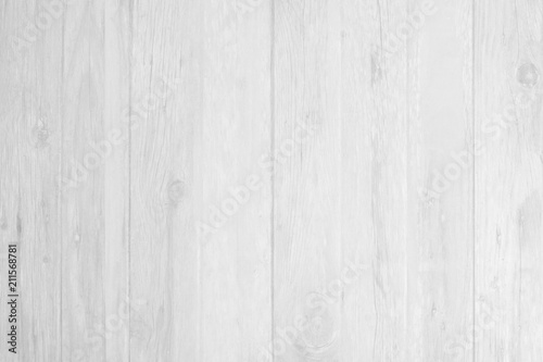 Poster Bois White wooden planed timber flooring, wall, background surface blank for design your product
