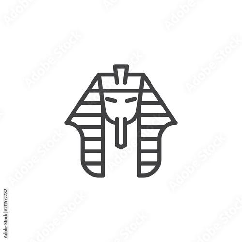 Obraz na płótnie Egyptian pharaoh outline icon