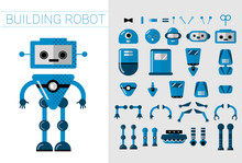 DIY Set Of Vector Robots Detai...
