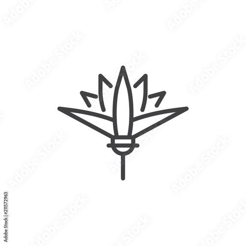 Lotus Flower Outline Icon Linear Style Sign For Mobile Concept And