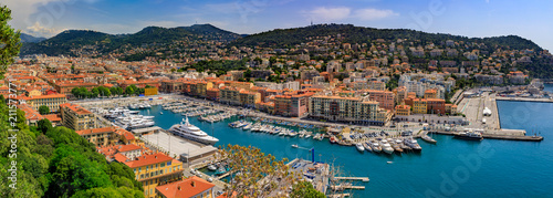 Photo sur Toile Nice Nice city coastline on the Mediterranean Sea