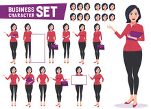 Business Woman Character Vecto...